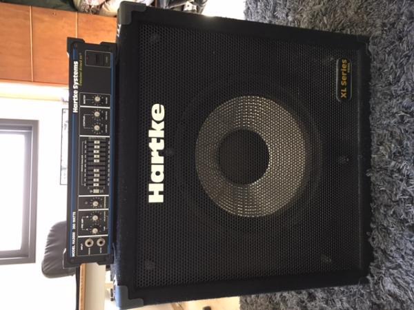מגבר בס HARTKE HA3500 ובוקסה HARTKE XL115 שמורים במצב מצויין!