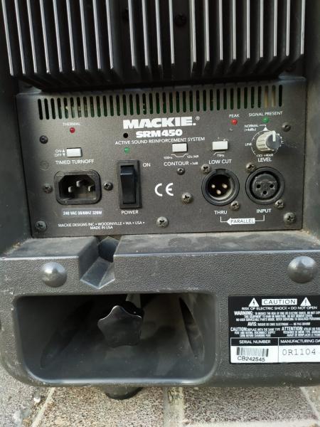 זוג רמקולים מקי אורגינלי 450 וואט מוגבר