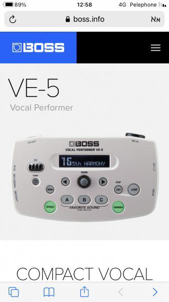 מולטי אפקט לזמרים BOSS VE-5