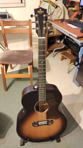 גיטרה אקוסטית איכותית מוגברת - Sigma
